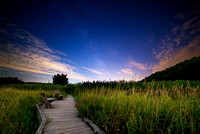 Appalachian Trail Boardwalk and Milky Way